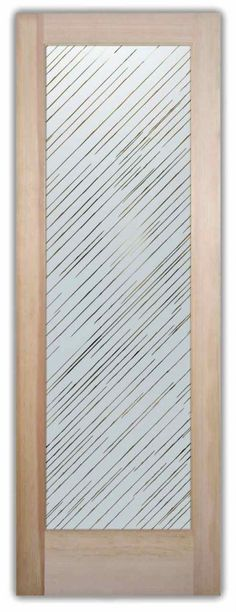 Brushed Aluminum - Negative etched glass door by Sans Soucie Art Glass.etched glass
