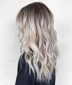 Ash Blonde Hair Balayage, Blonde Hair Looks, Platinum Blonde Hair, Icy Blonde, Balayage Highlights, Blonde Hair With Dark Roots, Balayage Ombre, Bright Blonde, Blonde Beauty