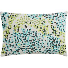 "disc embroidered 18""x12"" pillow in pillows 