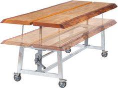 Tafel werktafel met in hoogte verstelbare werkbladen in