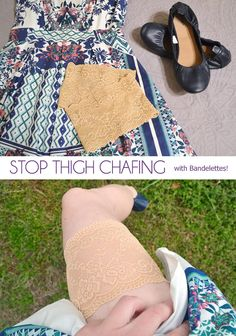 No thigh gap? No problem! Stop thigh chafing with Bandelettes! thighchafing #ad #thighchafing