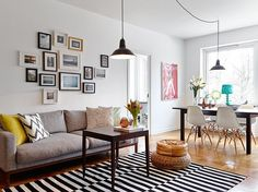 I'd sort of forgotten how nice white walls look, with lots of splashes of colour. White Rooms, White Walls, Home Living Room, Interior Architecture, Sweet Home, Design Inspiration, House Styles, Furniture, Home Decor