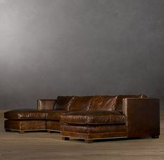 Easton Leather U-Chaise Sectional