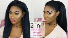 Quick 2 in 1 Hairstyles |  Kinky Half Wig & Ponytail |  New Born Free JO...