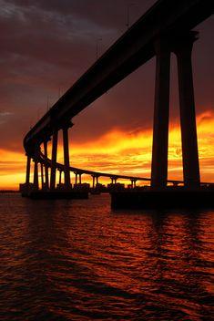 Coronado Bridge, San Diego, California USA been here and it's amazing everything about Sandi deigo