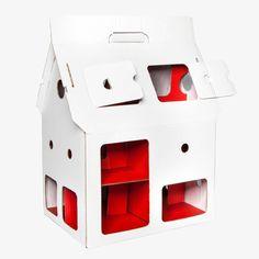 Poppenhuis uit karton van Studio Roof - wit