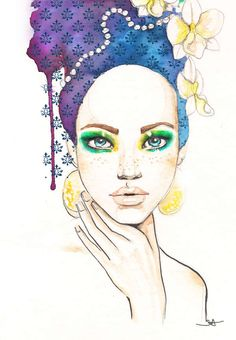 Sizzling Watercolor Seductresses : Sara Ligari
