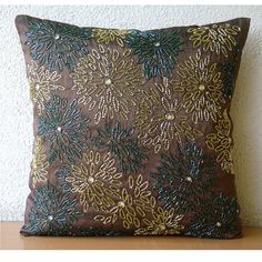 Floral Spark Throw Pillow Covers 20x20 Inches by TheHomeCentric
