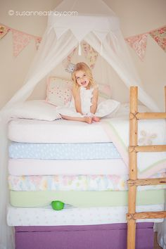 Pin itI've had so much fun doing themed shoots lately and this princess and the pea photo shoot I did here in Monterey for my girls was especially fun!  The girls loved dressing up as princesses and I was absolutely thrilled to find this beautiful lace crown, purchased from Love Crush Boutique on et