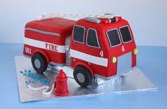fire truck cake (looks super 'easy')