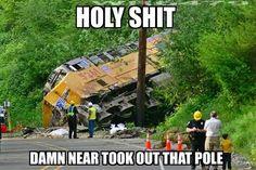 New training quotes railroad Ideas Railroad Quotes, Railroad Humor, Railroad Wife, Funny Accidents, Wife Humor, Stupid Jokes, Make Em Laugh, Training Quotes, Train Art