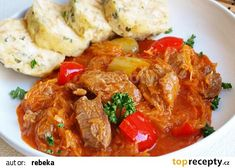 Slovakian Food, Thai Red Curry, Stew, Food And Drink, Turkey, Treats, Chicken, Ethnic Recipes, Diet