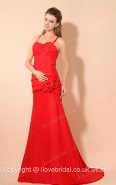 Pleated Satin A-line #Bridesmaid #Dress