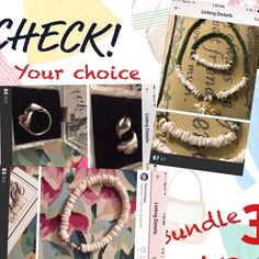👍Vtg:Auth. Puka shells 3 pcs. Set. A combination of real puka shells and beads from Hawaii . Necklace, earrings and bracelet. New w/o tag . Fits all size.your choice 3 pcs. For $10.00 Mix n Match Jewelry Necklaces