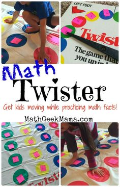 Math Twister! {A Fun Indoor Math Game!} -