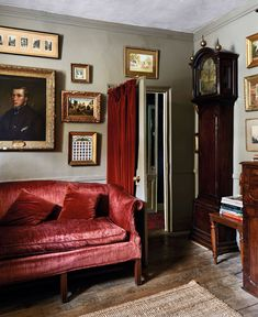 The hallway of Jack Brister and Richard Nares' home in Frome, Somerset