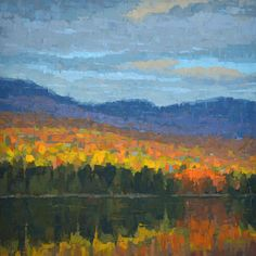 Autumn Reflection oil on canvas by Brian Kiernan