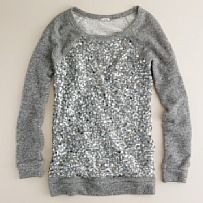 Sequin pullover - perfect with bf jeans, heels, and a cute clutch