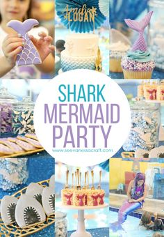 Mermaid Shark Joint Sibling Birthday Mermaid Shark Joint Sibling Themed Birthday Party Ideas - such a fun party idea for a brother and sister!Mermaid Shark Joint Sibling Themed Birthday Party Ideas - such a fun party idea for a brother and sister! Twin Birthday Themes, Sibling Birthday Parties, Combined Birthday Parties, Joint Birthday Parties, Birthday Ideas, Happy Birthday, 5th Birthday, Brother Birthday, Birthday Wishes