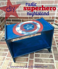 DIY Rustic Superhero Nightstand - Everyday Domestic