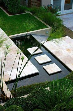 51 Best Ever Ideas Garden Design For Your Bakcyard You Can Get It Now Contemporary Water Features Design Ideas 3 Top 50 Best Backyard Pond Ideas Outdoor Water Feature D. Modern Landscaping, Backyard Landscaping, Landscaping Ideas, Backyard Ideas, Backyard Ponds, Patio Ideas, Small Gardens, Outdoor Gardens, Zen Gardens