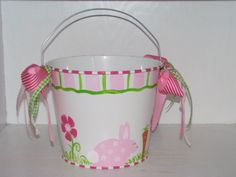 Hey, I found this really awesome Etsy listing at https://www.etsy.com/listing/93631922/girls-easter-basket-easter-bucket-pail
