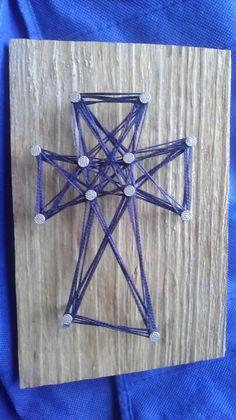 Nail - thread - wood Cross