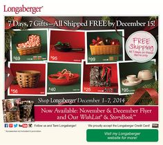 Holiday gift giving ideas all delivered in time for the holidays! www.Longaberger.com/HeidiAnhalt Independent Sales Consultant