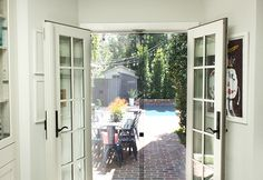 I came up with the perfect solution using VELCRO® Brand Industrial Strength Tape so my screen lays flat, stays perfectly secure and can still be removed! Diy Screen Door, French Doors, Diys, Easy Diy, Backyard, Windows, Balcony, Blog, Patio