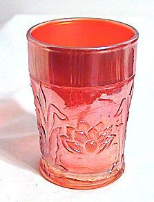 Carnival Glass - Northwood - Marigold - Water Lily - Tumbler