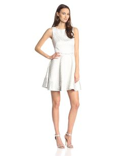 Kelsey Diamond Jacquard Fit-and-Flare Dress by ERIN erin fetherston