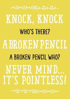 Back To School Knock Knock Jokes