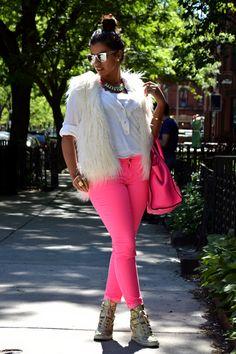 Hayfa Glam   by Hayfaa JawharHow to wear fur casually. #fur ...