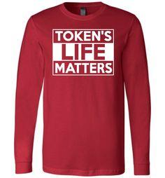 Token's Life Matters Canvas Long Sleeve T-Shirt