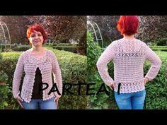 Crosetăm jachetă Adela - PARTEA I / tutorial pas cu pas - YouTube Pullover, Youtube, Sweaters, Beautiful, Dresses, Fashion, Plus Size Trench Coat, Crochet Jacket, Wraps