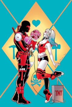 Harley meets Red Tool (Harley Quinn #28 cover by Amanda Conner, Art by John Timms)    Lost My Puddin' (♦Harley Quinn♦)