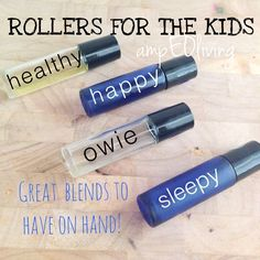 Doterra essential oil blends for the kids! 4 roller bottles to have on hand!