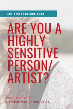 In this episode of How to Be an Artist, we talk about what it means to be a Highly Sensitive Person, how this state of being affects us creatives, and what we can do to begin harnessing this as a strength. Must watch for sensitive creatives. Highly Sensitive Person, How To Get Better, Artist Life, Drawing Skills, Urban Sketching, It's Meant To Be, Elements Of Art, Art Challenge, Creative People