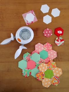 A Farm Wife's Journal: Fiskars X-Large Hexagon Squeeze Punch makes perfect 1 inch hexies!