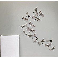 Umbra Wallflutter Muurdecoratie Libelle Set van 20 - Grijs