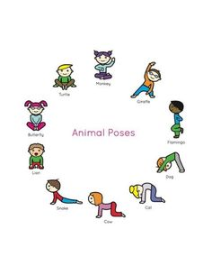 Yoga For Kids, Exercise For Kids, Kids Yoga Poses, Stretches For Kids, Kids Workout, Gross Motor Activities, Preschool Activities, Movement Activities, Physical Activities