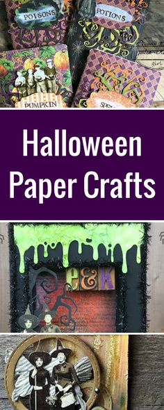 Halloween Scrapbook Projects | Featuring Tim Holtz Paper Dolls | Creative Scrapbooker Magazine   #halloween #scrapbooking