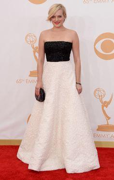 Elisabeth Moss at the 2013 Emmy Awards
