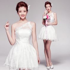 Aliexpress.com : Buy 2016 Short White Lace Bridesmaid Dresses One Shoulder Lace Summer Style Bridesmaid Dresses robe demoiselle d'honneur Mini  from Reliable dress news suppliers on Life&Peace Dress Store  | Alibaba Group