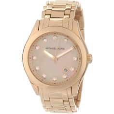 Michael Kors Women's MK5311 Rose Gold Mother-Of-Pearl Watch by None, via Polyvore I love rose gold=Dena