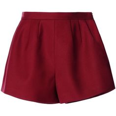 Redvalentino Tricotine Tech Shorts (245 CAD) ❤ liked on Polyvore featuring shorts, bottoms, maroon, mid rise shorts, red valentino, zipper shorts, side zip shorts and maroon shorts