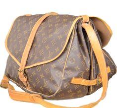 cf9e84d5f2a Sold - Louis Vuitton Monogram 35 Messenger Bag. Duel Sided Crossbody
