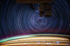 ISS Expedition 31 Flight Engineer Don Pettit created the images by taking multiple 30-second exposure photos and stacking them on top of each other, creating single images that equate an exposure of about 10 to 15 minutes.  The results, as you can see below, are simply breathtaking.