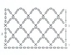 grille en arceaux de crochet pour écharpe en mohair