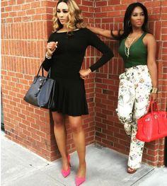 Cynthia Bailey & Kenya Moore of Real Housewives of Atlanta